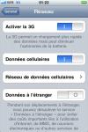 Capture d'écran de l'iPhone 3G