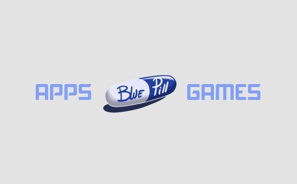 Logo de Blue Pill (une pillule bleue et blanche)